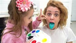 Kids pretend play colored paints, a magic toys