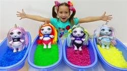 София как Мама и КУКЛЫ Единорожки, Sofia pretend play with Dolls and Toys for Girls